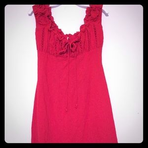 Free People Red Mini Dress